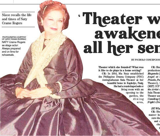 ??  ?? Niece recalls the life and times of Naty Crame Rogers