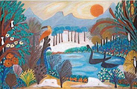 ?? Foto: Privatbesitz, Solothurn ?? Bei diesen Farben im Kunstmuseum Luzern geht einem das Herz auf. Danke, Josephine Troller! «Verzauberung», 1970.
