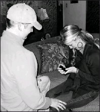??  ?? Engaged for six months: Trent Blanchard pops the question to girlfriend Britani Hamill. They're getting married in July in Texas.