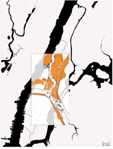 ??  ?? This page, top: the four locations where the Kumbh Mela is celebrated every three years in rotation Left: the Kumbh Mela occupies an area (32 km2) roughly half the size of Manhattan (59.1 km2) Opposite page: in orange, the temporary city created for the Kumbh Mela 2019 on the edge of Allahabad