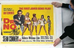 ?? Picture: Hannah McKay/Reuters ?? One of the James Bond film posters for which bidding opened on Friday in an online auction by Ewbank's in the UK. This poster for the 1962 movie 'Dr No' has an estimate of R120,000-R180,000.