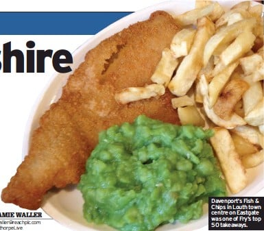 ??  ?? Davenport's Fish & Chips in Louth town centre on Eastgate was one of Fry's top 50 takeaways.