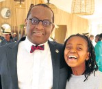 ?? Pictures: John Liebenberg ?? From left, Lebogang Montjane with his daughter Ramadimetja and Andile and Mondo Mazwai.
