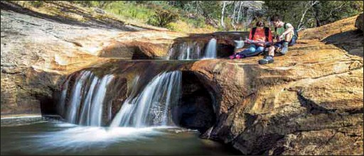 ?? PHOTO: Indigo Shire Council ?? BREATHTAKING: There are so many trails to enjoy in Beechworth, and the falls at the gorge are a wonderful reward after all that walking.