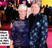 ??  ?? Alan with Alison Steadman, one of the guests on his new show and, right, with his wife, Alison