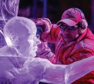 ?? CANADIAN HERITAGE ?? During the first-ever virtual Winterlude National Ice-Carving Competition, professional ice sculptors from across Canada will present their work online, and fans will be able to vote for their three favourite creations.