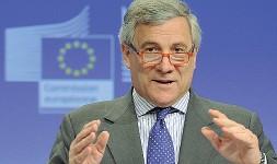 ??  ?? Soddisfatto Il presidente del Parlamento europeo Antonio Tajani