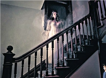 ??  ?? Ghost stories: apparitions have mystified readers, including the ghost of Lady Alington, below Ghost-hunter: Andrew Green, below, was brought in by the Albert Hall to investigate paranormal activity. Timothy Spall in The Enfield Haunting, right