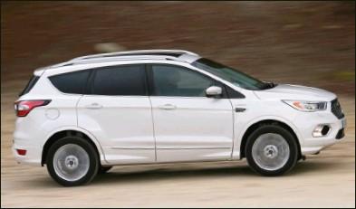 ??  ?? La finition Vignale se distingue du reste de la gamme par son kit carrosserie spécifique. 42 350 € 180 ch CO2 : 160 g/km Ford Kuga 2.0 TDCi 180 ch BA 4x4 Vignale
