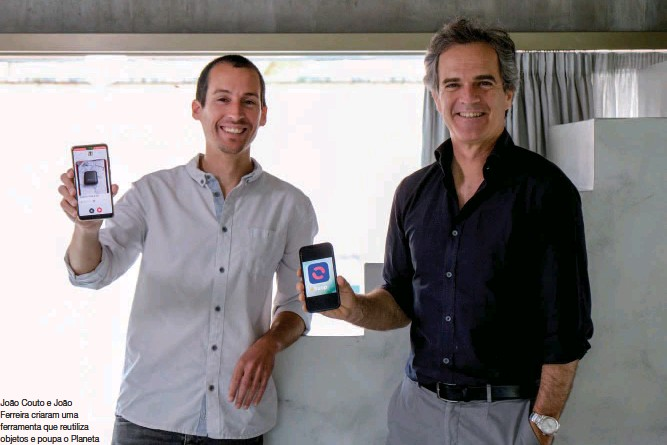 ??  ?? João Couto e João Ferreira criaram uma ferramenta que reutiliza objetos e poupa o Planeta