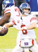 ?? NICKWASS/AP ?? Injuries have limited the mobility of Giants quarterback Daniel Jones.
