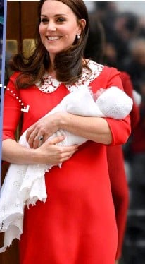 ??  ?? Messages of congratulations were sent from former US First Lady Michelle (left), and a personal gift was sent from PM Jacinda and her partner Clarke (below), who had met the Queen a few days before the birth (below left).