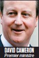 ??  ?? DaviD Cameron Premier ministre britannique