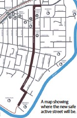 ??  ?? A map showing where the new safe active street will be.