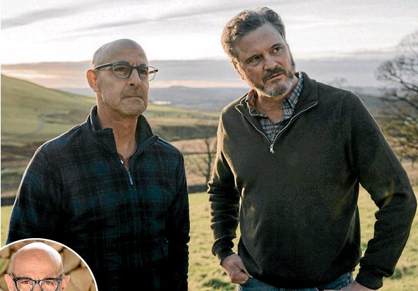 ??  ?? Stanley Tucci and Colin Firth have been close friends for almost two decades.