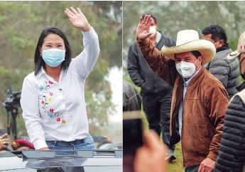 ?? AGENCIAS ?? Keiko Fujimori y Pedro Castillo, candidatos a la presidencia de Perú.