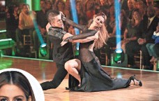 ?? ADAM TAYLOR, ABC ?? Derek Hough and Maria Menounos made it to fourth place on DWTS. Menounos teamed with Julianne Hough to produce #DanceBattle.