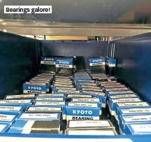 ??  ?? Bearings galore!