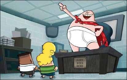 """?? Associated Press photos ?? This image released by Netflix shows a scene from """"The Epic Takes of Captain Underpants."""""""
