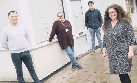 ??  ?? Pictured outside Scarborough, Whitby and Ryedale Mind are, from left, Operations Manager Carl Maw, volunteer Anja Davis, Apprentice Administrator Elvan Cankar and Service and Volunteer Manager Catherine Mason. Below, Anja Davis.