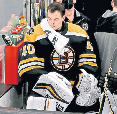 ?? MATT sTonE / HErAld sTAFF FIlE ?? AHH, PEANUTS: Bruins goaltender Tuukka Rask gave every excuse in the book to explain the team's collapse in the Eastern Conference semifinals to the New York Islanders.