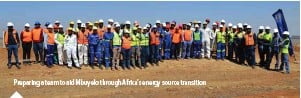 ??  ?? Preparing a team to aid Mbuyelo through Africa's energy source transition