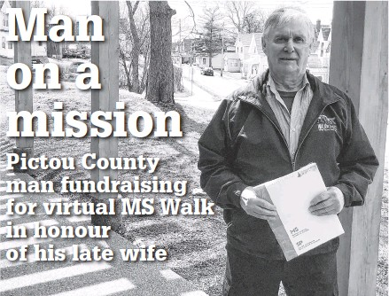 ?? ADAM MACINNIS • THE NEWS ?? Sheldon Patriquin has raised more than 107,000 for the MS Society of Canada.