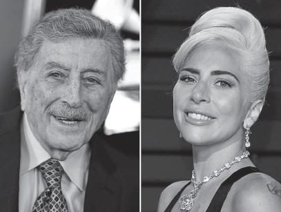 ??  ?? DUETO HISTÓRICO. Tony Bennet, con sus 95 años, eligió a Lady Gaga para que lo acompañe en su adiós definitivo a la música.