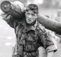 ??  ?? Kane passed the infamous Royal Marines fitness test at the age of 16