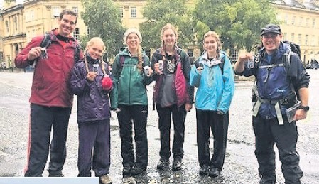??  ?? Walkers tackled Solsbury Hill, Lansdown Ridge and Kelston Round Hill to raise funds at the inaugural Bath Marches