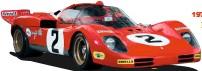??  ?? Beautiful, brutal 512S battled Porsche in 1970