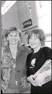 ?? Courtesy, Pat Dennill ?? Pat Dennill and Renae Friestad during Toonies for Turtles, Eugene Coste Elementary School.