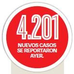 ??  ?? NUEVOS CASOS SE REPORTARON AYER.
