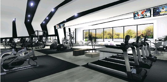 ?? ARTIST'S RENDERINGS COURTESY OF DEVMONT ?? Westbury residents will be able to take advantage of various common areas and amenities, including this gym.
