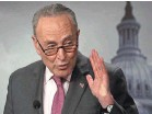 ?? ALEX WONG/GETTY IMAGES ?? Senate Majority Leader Sen. Chuck Schumer speaks during a news conference at the Capitol this week.