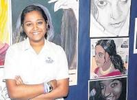 ??  ?? ●●Aadhithya Anbahan won praise for her GCSE artwork