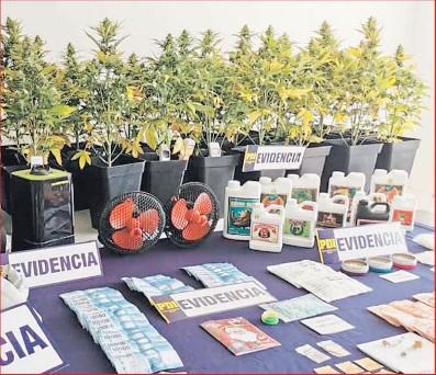 ??  ?? El emprendedor de la droga quedó en prisión preventiva por infracción a la Ley 20.000.