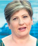 ??  ?? New role... Emily Thornberry