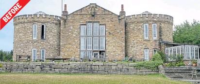 ??  ?? Ornate Honeycrock Castle cost £1million to build but was hidden behind hay bales to conceal its grandeur