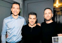 "?? Photo / Getty Images ?? Nathan Blechar­czyk, Brian Ch­esky and Joe Geb­bia launched the peer- to- peer on­line hos­pi­tal­ity plat­form we know to­day as Airbnb on ""half a shoe­string""."