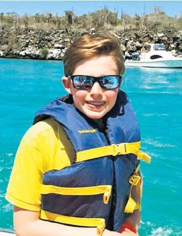 ??  ?? Bri­tish school­boy Mar­cos Bur­nett, 14, died in the Ital­ian earth­quake de­spite the res­cue at­tempts of vil­lagers, who were un­able to save him as they pulled his par­ents from the villa of their friends Wil­liam and Maria Hen­niker-Got­ley, who were also killed