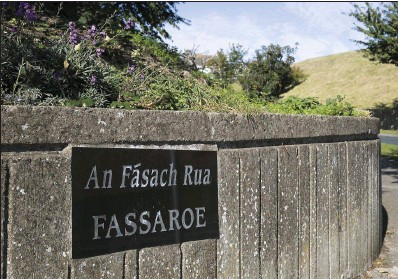 ??  ?? Fas­saroe, where Bray Tidy Towns and lo­cal res­i­dents took on a spe­cial project.