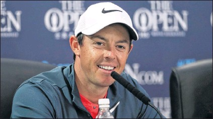 ?? AP PHOTO ?? Rory Mcilroy speaks to reporters ahead of the British Open Golf Championship at Royal Birkdale in Southport, England, on Wednesday. The Open begins today.