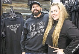 ??  ?? Ryan Harrell and Nicole Harrell, owners of American Tattoo Society, note that their on-base locations are much smaller than their off-base shops.