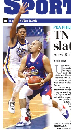 ??  ?? Magnolia's Paul Lee, right, looks for a shot against NLEX's Kenneth Ighalo in Wednesday's PBA Philippine Cup game at the Angeles University Foundation Sports and Cultural Center. Magnolia won 103-100. (PBA Images)