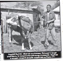??  ?? большого труда Андрей Быков: «Мне не составляет коровами. Прежде ухаживать за тремя собственными их было 17» в нашем с женой личном хозяйстве