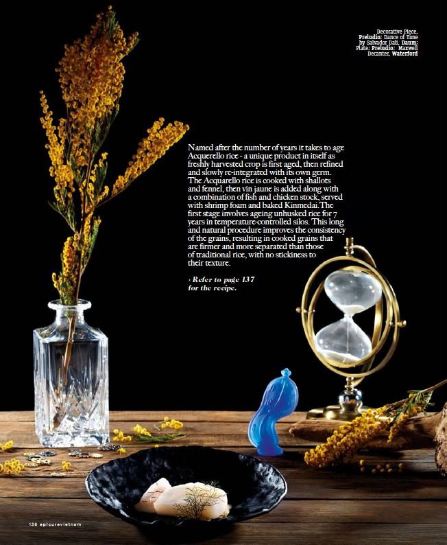??  ?? Decorative Piece, Preludio; Dance of Time by Salvador Dali, Daum; Plate; Preludio; Maxwell Decanter, Waterford