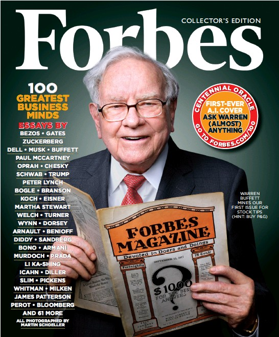 Pressreader  Forbes   Oo Greatest Business Minds Warren Buffett Mines Our First Issue For Stock Tips Hint Buy Pg