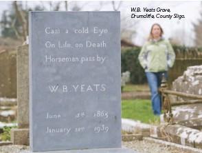 ??  ?? W.B. Yeats Grave, Drumcliffe, County Sligo.