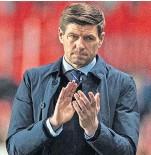??  ?? Rangers boss Steven Gerrard